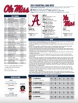 Ole Miss 2016-17 Game Notes: Alabama by Ole Miss Athletics. Men's Basketball