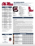 Ole Miss Game Notes South Carolina by Ole Miss Athletics. Men's Basketball