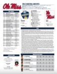 Ole Miss Game Notes SEC Tournament by Ole Miss Athletics. Men's Basketball
