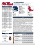 Ole Miss 2016-17 Game Notes: Monmouth by Ole Miss Athletics. Men's Basketball