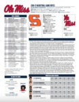 Ole Miss 2016-17 Game Notes: Syracuse by Ole Miss Athletics. Men's Basketball