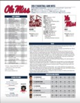 Ole Miss Game Notes at Mississippi State by Ole Miss Athletics. Men's Basketball
