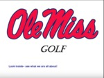 This is Ole Miss Men's Golf by Ole Miss Athletics. Men's Golf