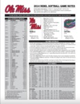 Ole Miss SB Notes Week 5 by Ole Miss Athletics. Women's Softball