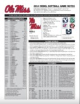 Ole Miss SB Notes Week 4 by Ole Miss Athletics. Women's Softball