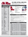 Ole Miss SB Notes Week 1 by Ole Miss Athletics. Women's Softball
