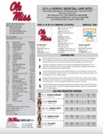 Ole Miss Game Notes WBB at Tennessee by Ole Miss Athletics. Women's Basketball