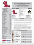 Ole Miss Game Notes Vanderbilt by Ole Miss Athletics. Women's Basketball