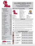 Ole Miss Game Notes LSU by Ole Miss Athletics. Women's Basketball