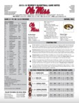 Ole Miss Game Notes WBB vs. Missouri by Ole Miss Athletics. Women's Basketball