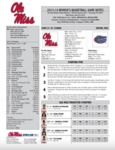 Ole Miss Game Notes WBB vs Florida by Ole Miss Athletics. Women's Basketball