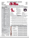 Ole Miss Game Notes WBB vs. Auburn by Ole Miss Athletics. Women's Basketball