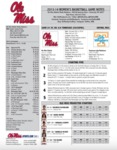 Ole Miss Game Notes WBB vs Tennessee by Ole Miss Athletics. Women's Basketball