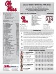 Ole Miss Game Notes WBB vs. Texas A&M by Ole Miss Athletics. Women's Basketball