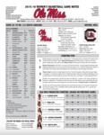 Ole Miss Game Notes WBB vs. South Carolina