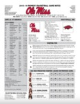 Ole Miss Game Notes WBB at Arkansas by Ole Miss Athletics. Women's Basketball