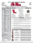 Ole Miss Game Notes WBB SEC Tournament Vanderbilt