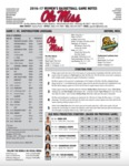 Ole Miss Game Notes WBB Southeastern Louisiana by Ole Miss Athletics. Women's Basketball