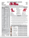 Ole Miss Game Notes WBB vs. Austin Peay by Ole Miss Athletics. Women's Basketball