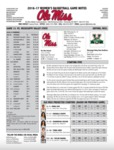 Ole Miss Game Notes WBB vs. Mississippi Valley State by Ole Miss Athletics. Women's Basketball