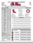 Ole Miss Game Notes WBB at Alabama by Ole Miss Athletics. Women's Basketball