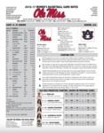 Ole Miss Game Notes WBB at Auburn