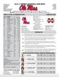 Ole Miss Game Notes WBB at Mississippi State by Ole Miss Athletics. Women's Basketball