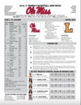 Ole Miss Game Notes WBB vs. Lipscomb by Ole Miss Athletics. Women's Basketball