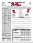 Ole Miss Game Notes WBB vs Georgia by Ole Miss Athletics. Women's Basketball