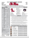 Ole Miss Game Notes WBB vs. Aubun by Ole Miss Athletics. Women's Basketball