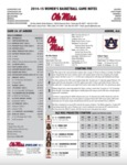 Ole Miss Game Notes WBB at Auburn by Ole Miss Athletics. Women's Basketball