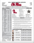 Ole Miss Game Notes WBB at Vanderbilt