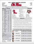 Ole Miss 2016-17 Women's Basketball Game Notes: Texas A&M by Ole Miss Athletics. Women's Basketball