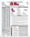 Ole Miss Game Notes WBB vs. Arkansas by Ole Miss Athletics. Women's Basketball