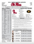 Ole Miss 2016-17 Women's Basketball Game Notes: LSU by Ole Miss Athletics. Women's Basketball