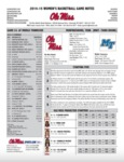 Ole Miss Game Notes WBB Middle Tennessee (WNIT) by Ole Miss Athletics. Women's Basketball