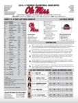 Ole Miss Game Notes WBB at UNLV Lady Rebel Round up by Ole Miss Athletics. Women's Basketball