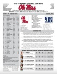Ole Miss Game Notes WBB Jackson State by Ole Miss Athletics. Women's Basketball