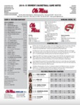Ole Miss Game Notes WBB Western Kentucky by Ole Miss Athletics. Women's Basketball