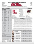 Ole Miss Game Notes WBB vs. Louisiana-Monroe by Ole Miss Athletics. Women's Basketball