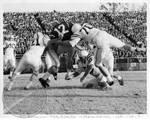 Jake Gibbs in football game by Edwin E. Meek