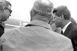 Bobby Kennedy greeting crowd at airport: Image 2 by Edwin E. Meek
