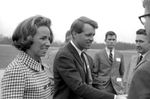 Bobby Kennedy greeting crowd at airport: Image 3 by Edwin E. Meek