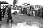 Bobby Kennedy greeting crowd at airport: Image 5 by Edwin E. Meek
