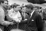 Bobby Kennedy greeting crowd at airport: Image 7 by Edwin E. Meek