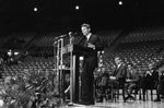 Bobby Kennedy delivering speech at University of Mississippi: Image 2 by Edwin E. Meek