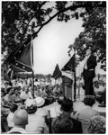 J. P. Coleman speaking at rally: Image 1 by Edwin E. Meek