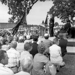 J. P. Coleman speaking at rally: Image 2 by Edwin E. Meek