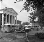 Bulldozer, morning after riot by Edwin E. Meek