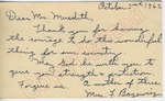 Mrs. F. Bozewicz to Mr. Meredith (2 October 1962) by Mrs. F. Bozewicz